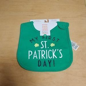 """Baby Bib """"First St. Patrick Day"""""""